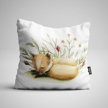 Fabric Pillow panel Fox