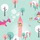 Tkanina 1445 | Dragon Girl - Rapunzel