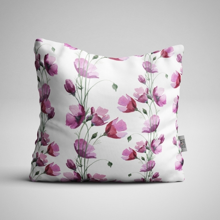 Fabric Pillow panel Poppies