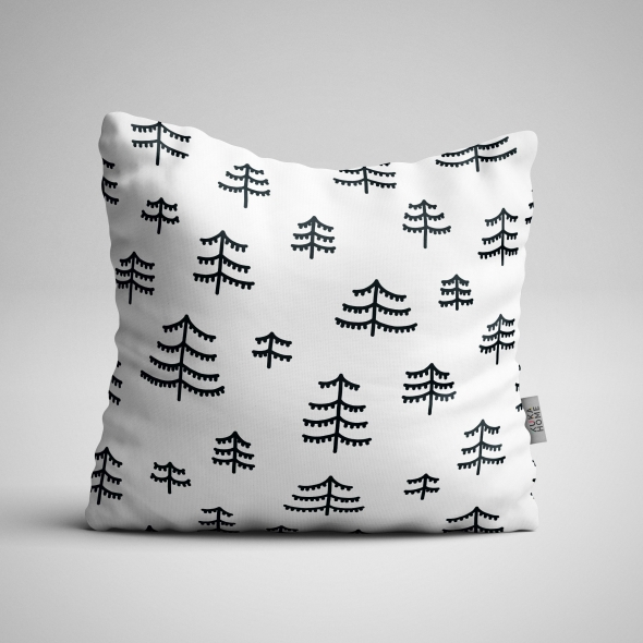 Fabric Pillow panel Scandi Christmas 1