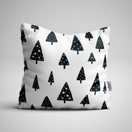 Fabric Pillow panel Scandi Christmas 2
