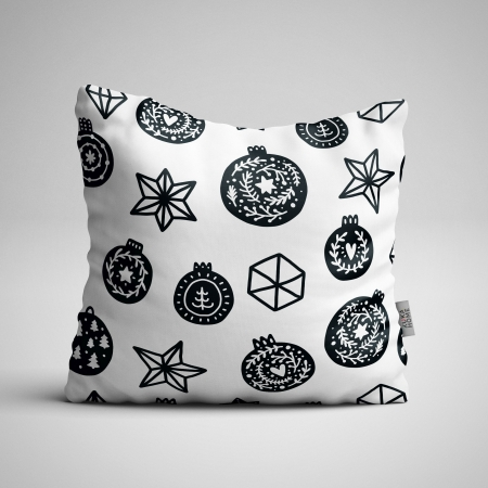 Fabric Pillow panel Scandi Christmas 3