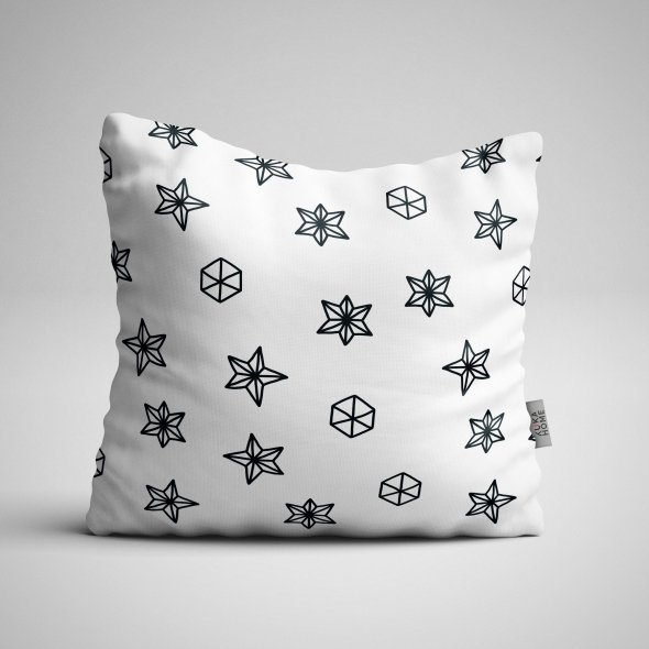 Fabric Pillow panel Scandi Christmas 5
