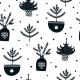 Fabric Pillow panel Scandi Christmas 6