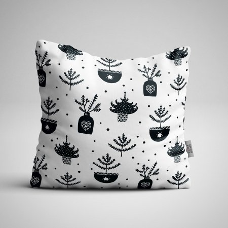 Fabric Pillow panel Scandi Christmas 6