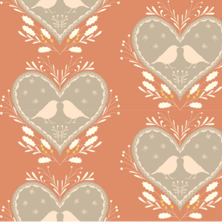Fabric 12744 | Gingerbread hearts