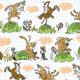 Tkanina  | cute rabbits
