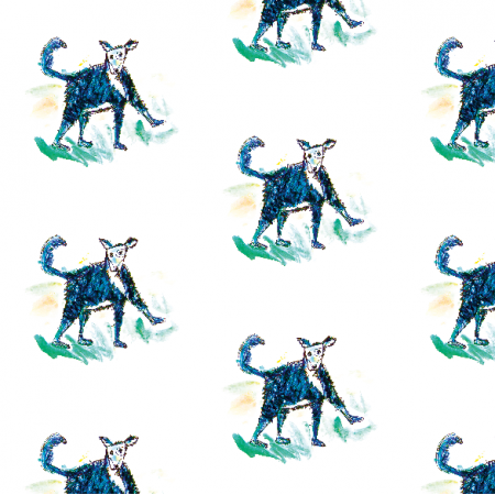 Tkanina 12754 | Little dog pattern for kids