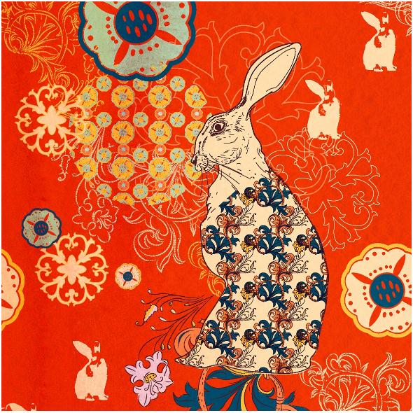 Fabric  | Red rabbit