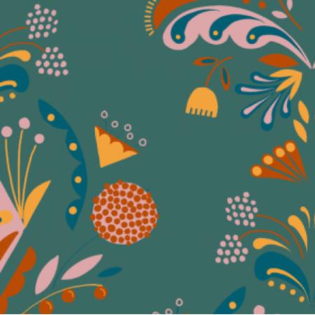 Fabric 12769 | Folk floral