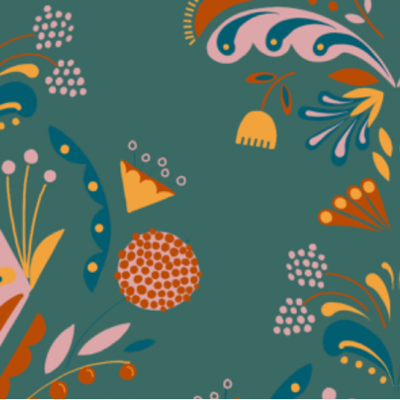 Tkanina 12769 | Folk floral