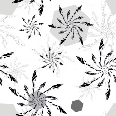 Fabric 12790 | kwiatowe śnieżynki
