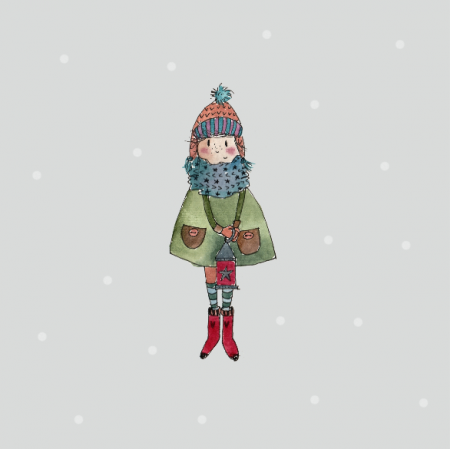 Tkanina 12815 | winter girl
