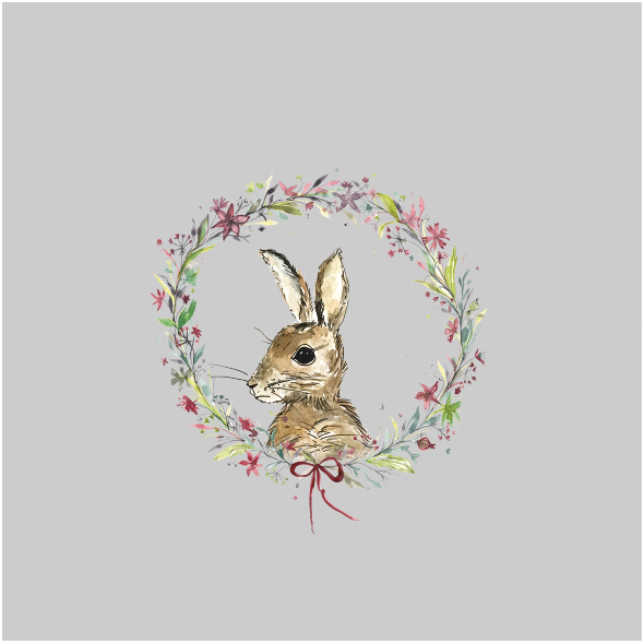 Tkanina 12816 | winter rabbit