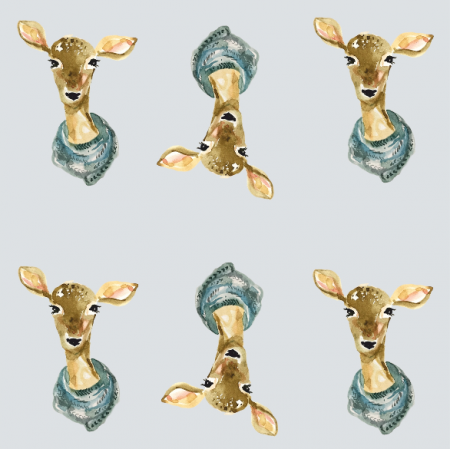 Fabric 12822 | winter roe deer
