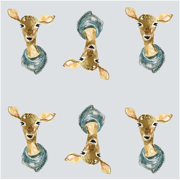 Tkanina 12822 | winter roe deer