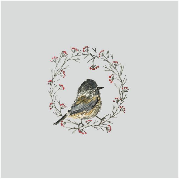Tkanina 12823 | winter bird