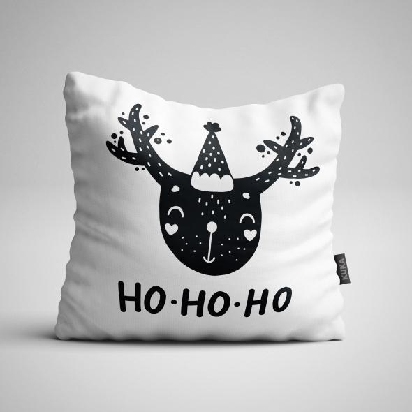 Fabric Pillow panel Ho Ho Ho