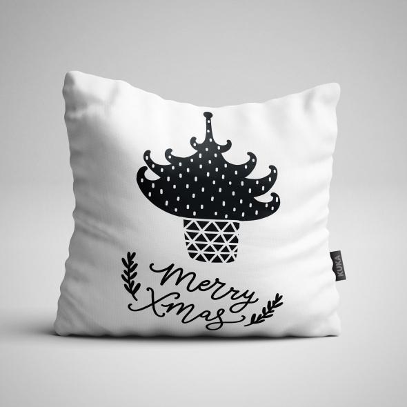 Fabric Pillow panel MerryXmas