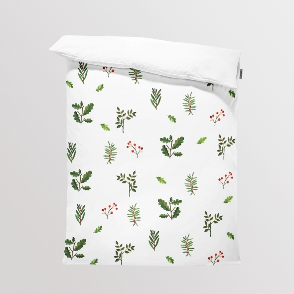 Fabric Bedding/Blanket Forest Leaves