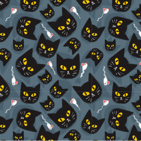 Fabric 12899 | BLack cat