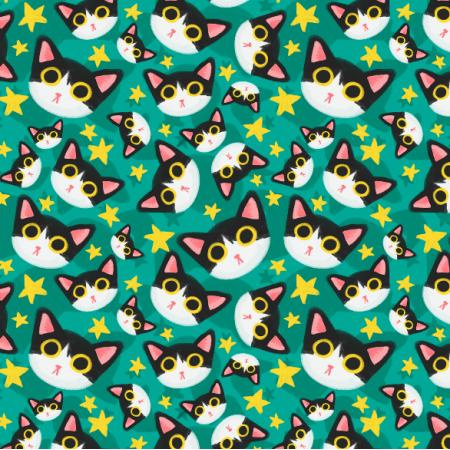 Tkanina  | Czarno białe kotki