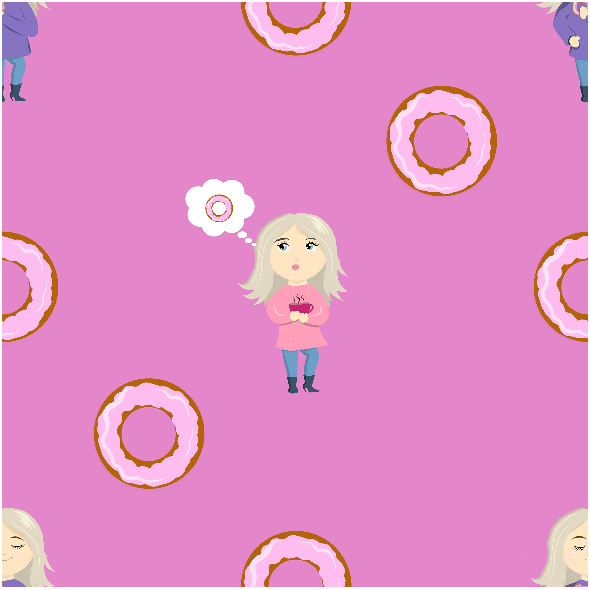 Fabric 12911 | Donut girls