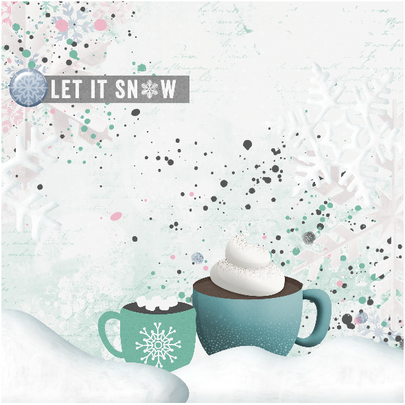 Fabric 12924 | Let it snow Pillow