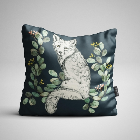 Fabric Pillow panel White Fox 1
