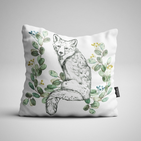 Fabric Pillow panel White Fox 2