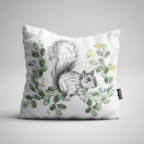 Fabric Pillow panel Squirrel 2