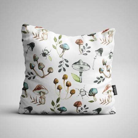 Tkanina Panel poduszka Grzybki