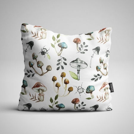 Fabric Pillow panel Mushrooms