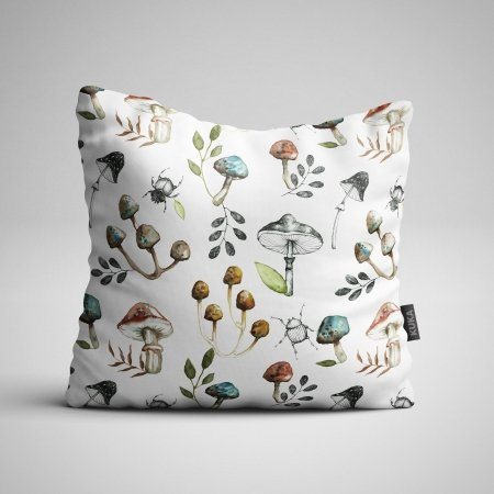 Fabric Pillow panel Mushrooms