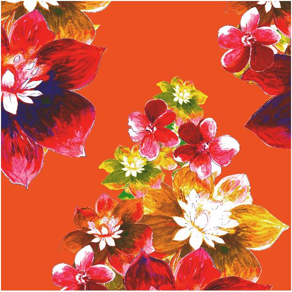Fabric 13052 | Wzór kwiecisty - seria 2