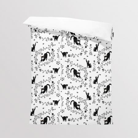 Tkanina Panel na Kocyk/Pościel Cats and Roses