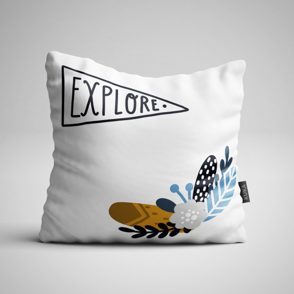 Fabric Pillow panel Little Explorer