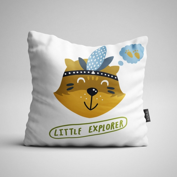 Fabric Pillow panel Little Explorer 2
