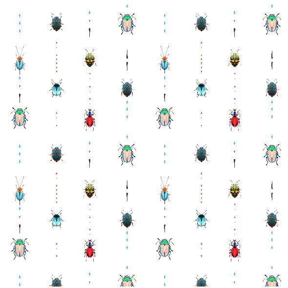 Fabric 13084 | Kolorowe owady