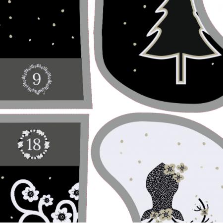 Fabric 13097 | Skandynawski kalendarz adwentowy
