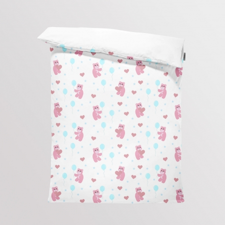 Bedding/Blanket Panel Lovely Bears White Night