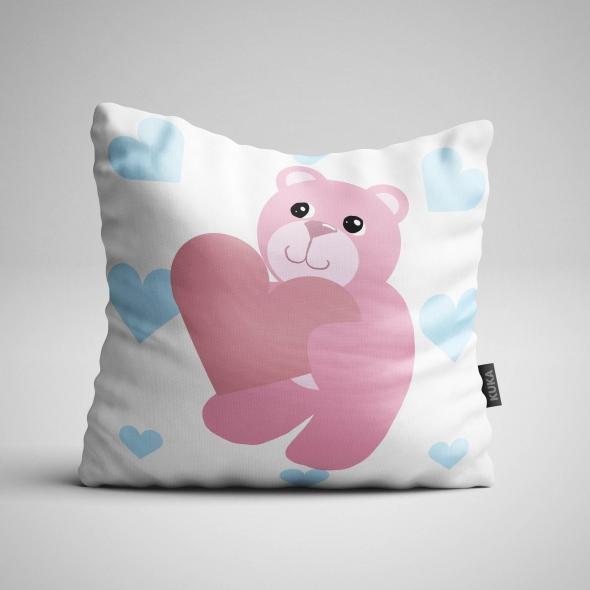 Tkanina Panel poduszka Lovely Bears White Night 2