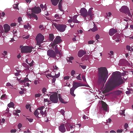 Fabric 13137 | Ametystowy wzór kwiatowy