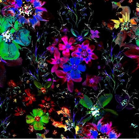Tkanina 13139 | Oryginalny wzór kwiatowy