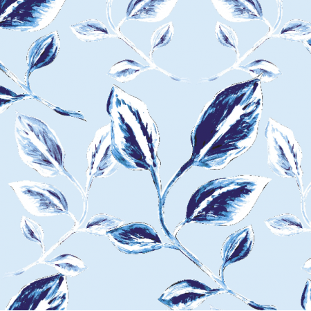 Fabric 13140 | szafirowe liście