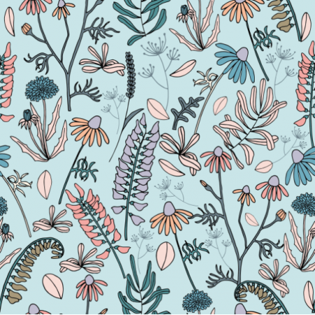 Fabric 13153 | botanical adventure blue