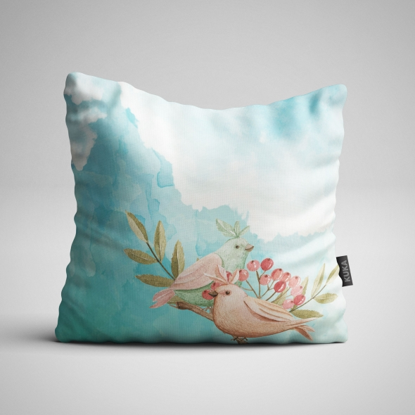 Fabric Pillow panel Forest Birds