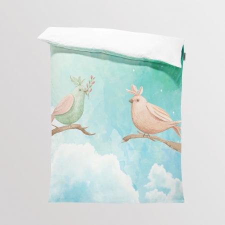 Tkanina Panel na Kocyk/Pościel Forest Birds
