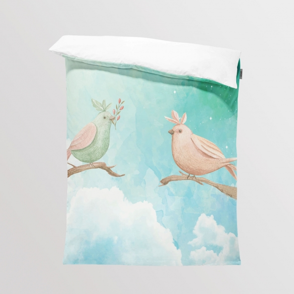 Fabric Bedding/Blanket Forest Birds