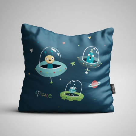 Fabric Pillow panel Alien